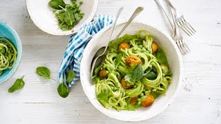 Alpro Recipe - Green Pasta With Chicken Meatballs