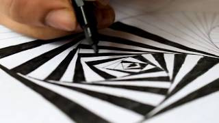 simple drawings draw optical illusion paintingvalley
