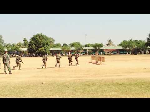 BHQ Somdouch Bodyguard BHQ Army Cambodia Training part2