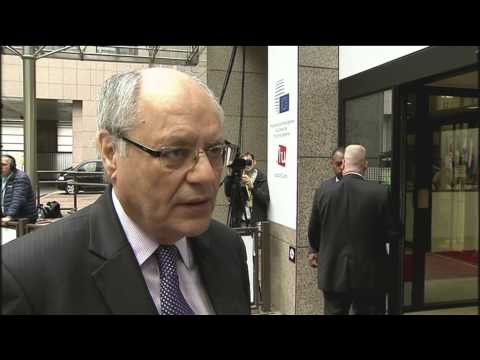 Arrival and doorstep by Edward Scicluna, Minister for Finance of Malta