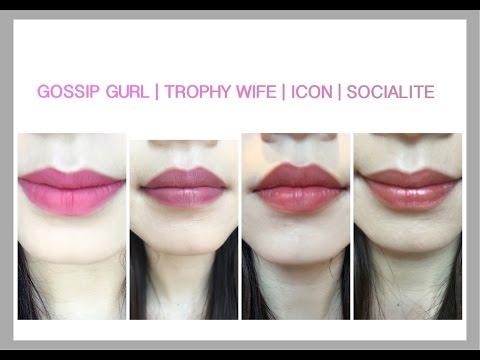 Huda Beauty Pink Edition Liquid Lipstick | GOSSIP GURL | TROPHY WIFE | ICON | SOCIALITE | JaeYong