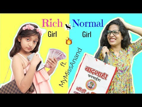 RICH vs NORMAL GIRL ft. MyMissAnand  Fun Sketch Roleplay ShrutiArjunAnand