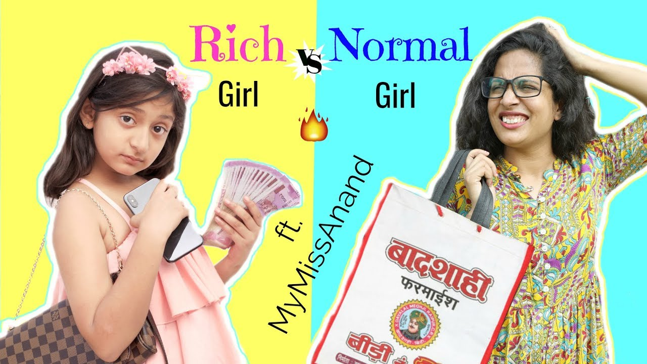 Download RICH vs NORMAL GIRL ft. MyMissAnand   #Fun #Sketch #Roleplay #ShrutiArjunAnand