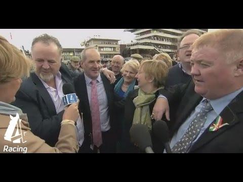 Jubilant trainer Tony Martin celebrates win | Cheltenham Festival 2013 | Channel 4 Racing
