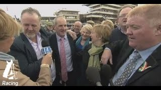 Jubilant trainer Tony Martin celebrates win | Cheltenham Festival 2013 | Channel 4 Racing