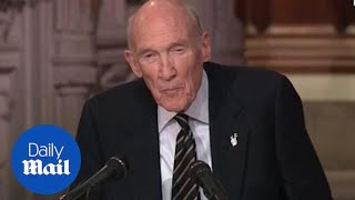 Former Senator Alan Simpson talks about his friend George H.W. Bush