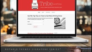 Tribe Wordpress Theme Review & Demo | Feminine Coach WordPress Theme | Tribe Price & How to Install