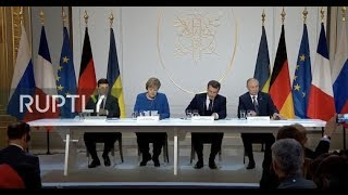 LIVE: Normandy Four leaders hold joint press conference following summit in Paris