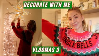 decorating my room for Christmas // VLOGMAS 3