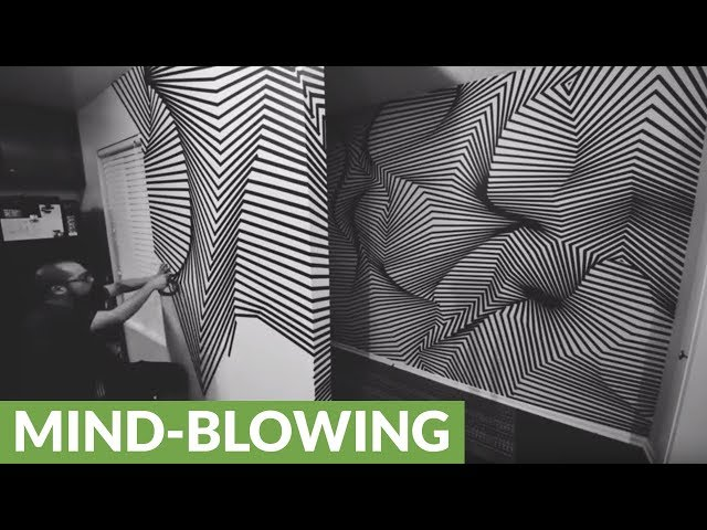 Tape art installation creates mind-blowing illusion