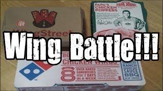 Pizza Hut Vs. Domino's Vs. Papa John's Chicken Wing Battle