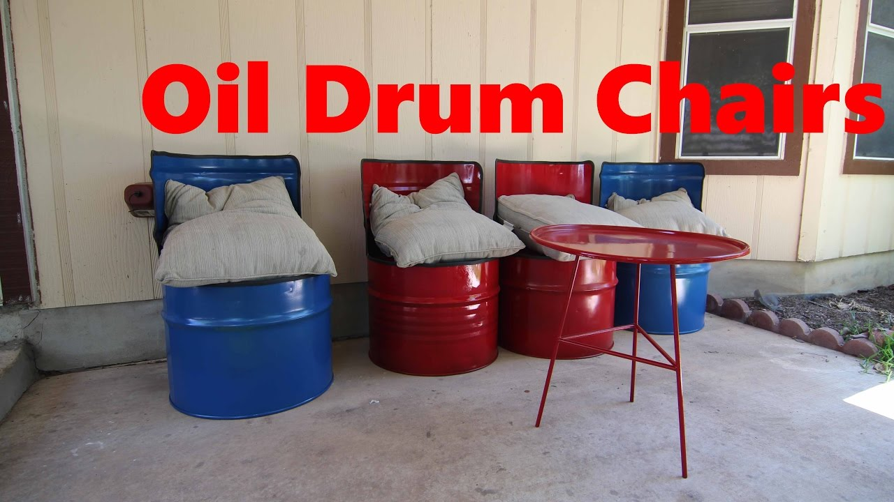 Makswerks Cheap Welding Videos Oil Drum Chairs Youtube