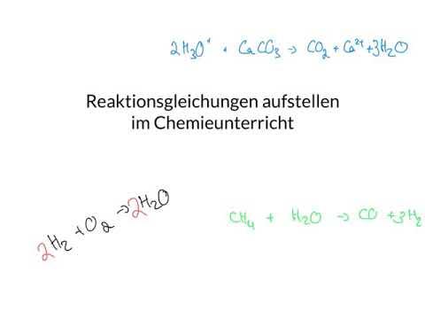 Kl. 8 Reaktionsgleichungen aufstellen in ...