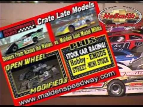 Clayhill Motorsports Malden Speedway NeSmith Race ad.