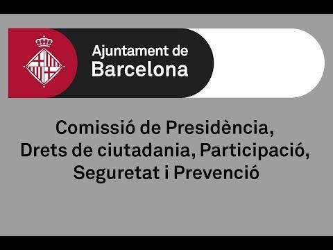 Comissió de Presidència, Drets de Ciutadania, Participació i Seguretat i Mobilitat 13/02/2019