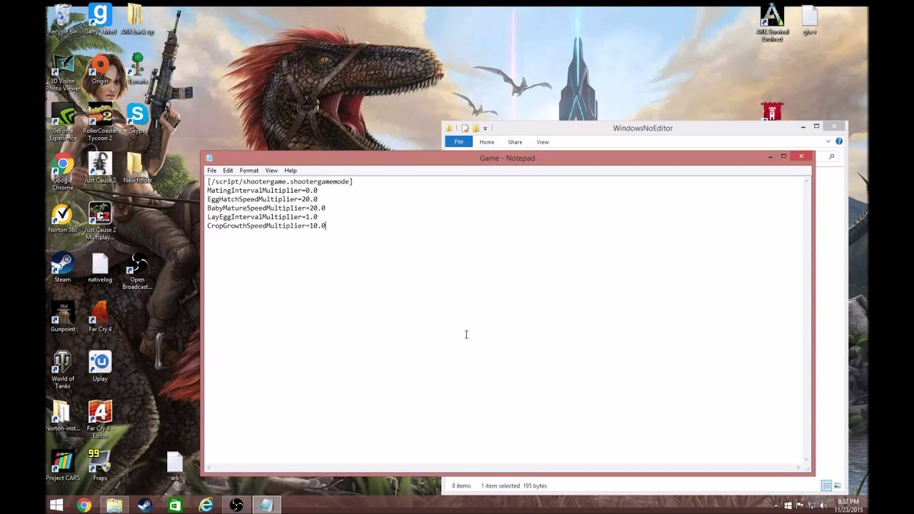 server ark how to add experience