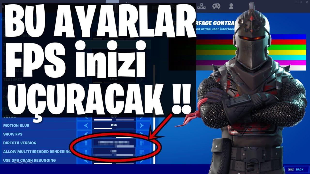 BU AYARLAR FPS 'inizi 2 KATINA ÇIKARACAK !! (Fortnite Türkçe)