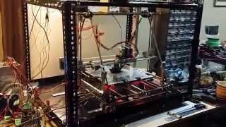 12x12 Reprap Mendel Prusa 3d Printer First Test Print