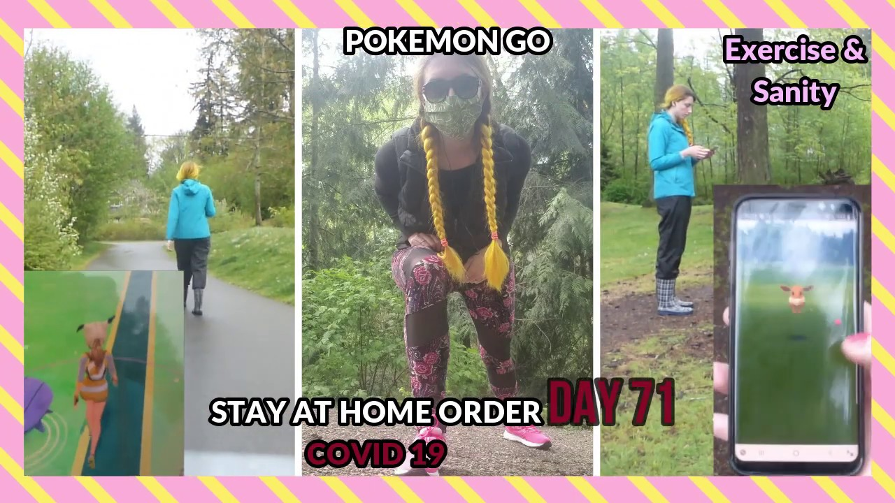 pokemon go during a pandemic #stayathome #quarantine #tallgirlproblems
