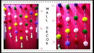 Simple Wool Wall Decor | Room Decor Idea using Yarn