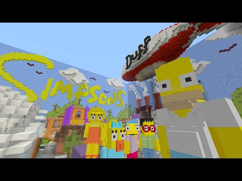 Minecraft Xbox - The Simpsons - Hide and Seek