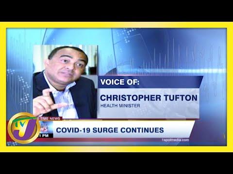 Covid-19 Surge Continues in Jamaica | TVJ News
