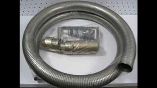 видео Применение гофрированной трубы для отвода выхлопных газов генераторов