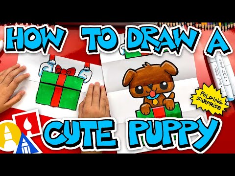 how-to-draw-a-puppy-present-folding-surprise