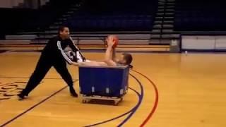 American University Basketball Trick Shots