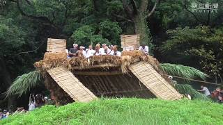 奄美大島・龍郷町の秋名集落で9月26日、豊作を祈る国の重要無形民俗...