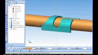 Построение 3D модели дверного шпингалета в Компас 3D