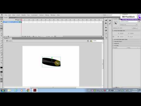 Adobe Flash -  Using the 3D rotation tool and translation tool