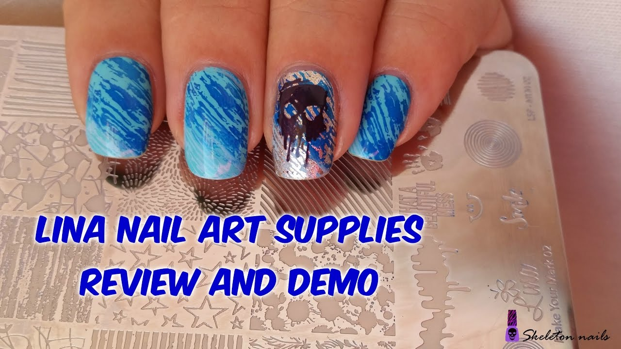 Lina nail art supplies, Make your mark 2. Review and demo - YouTube