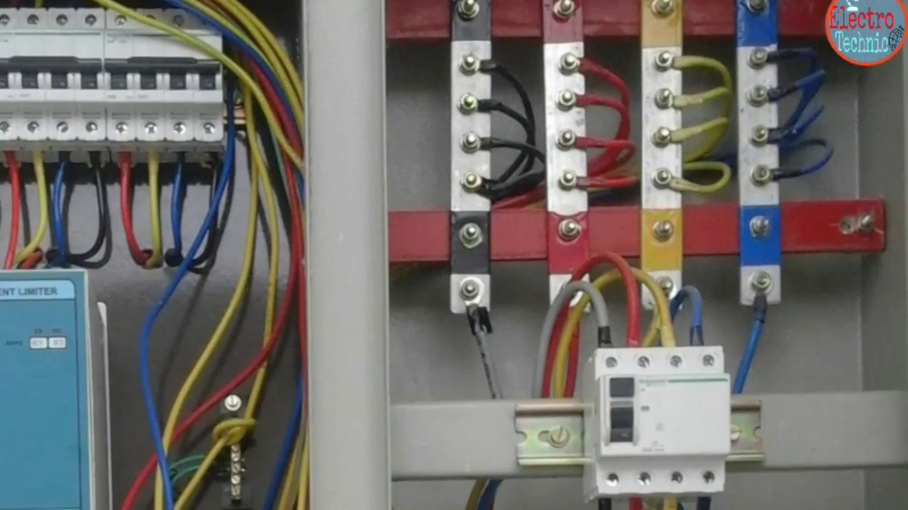 panel of three phase meter connectin in hindi hindi urdu youtube3 phase main breaker [ 1280 x 720 Pixel ]