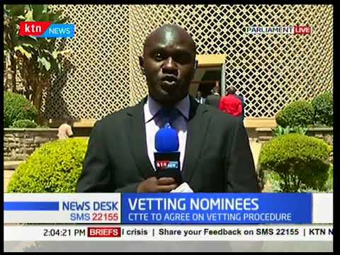 Committee on appointments to meet to agree on the vetting procedure