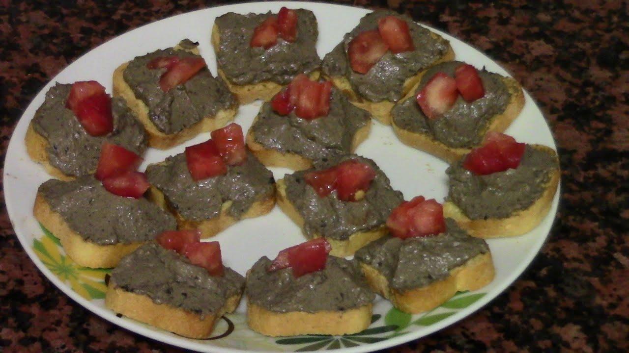 Canap S De Aceitunas Negras Recetas De Cocina Faciles