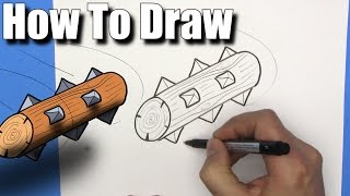 How To Draw the Log from Clash Royale - EASY- Step By Step