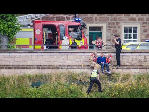 Man rescued from River Ness, Inverness Scotland