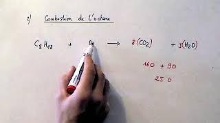 Combustion de l'octane et rendement d'un moteur d'avion. (Sciences Physiques)