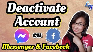 How to DEACTIVATE MESSENGER and Facebook Account 2021 Tagalog