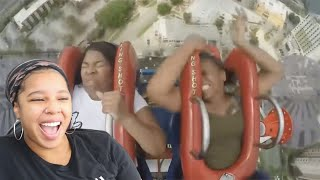 Funniest Roller Coaster Reactions | Reaction