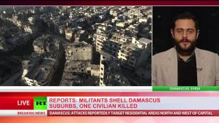 'Those suffering the most are civilians'  Militants shell Damascus & suburbs, 1 killed & 14 injured