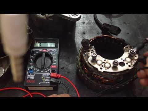 Alternator repair DIY ..Detail cara test stator & dioda!!..Isuzu Panther tuwir