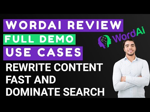 WordAI Review & Demo | Fast Content Creation and Rewriting with AI thumbnail