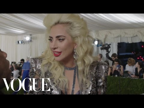 Lady Gaga on Her 10-Inch Heels and Performing With Mick Jagger | Met Gala 2016