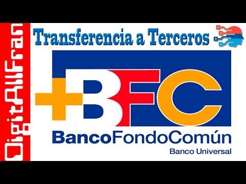 Transferencias a Terceros Banco Fondo Comun BFC