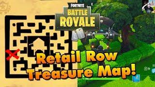 Retail Row (Wailing Woods) Treasure Location - Fortnite Battle Royale