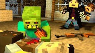 ЛОГОВО БАНДИТОВ! ДИКИЕ ЗОМБИ МУТАНТЫ! ЗОМБИ АПОКАЛИПСИС В МАЙНКРАФТ! - (Minecraft - Сериал)