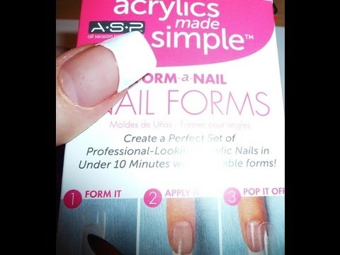 Asp Nail Forms Instant Long Nails In Less Than 5 Minutes