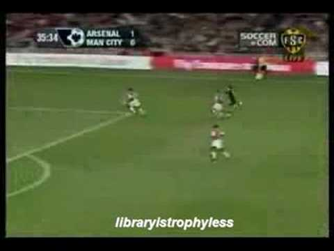 Arsenal fans quiet in the library